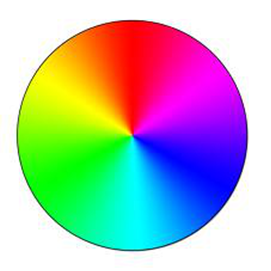 Complimentary colour wheel